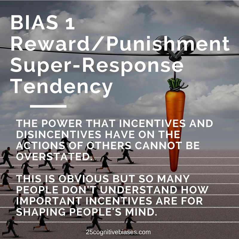 25 Cognitive Biases - Bias 1 Reward-Punishment Super-Response Tendency