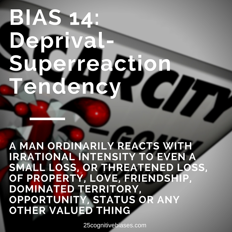 25 Cognitive Biases - Bias 14 Deprival Super-Reaction Tendency - bias meme
