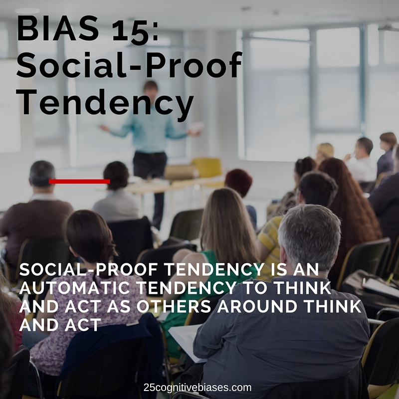 25 Cognitive Biases - Bias 15 Social-Proof Tendency