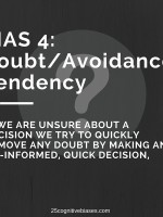 25 Cognitive Biases - Bias 4 Doubt-Avoidance Tendency