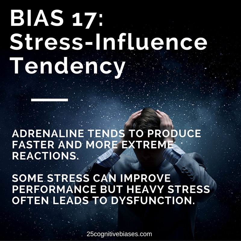 25 Cognitive Biases - Bias 17 Stress-Influence Tendency