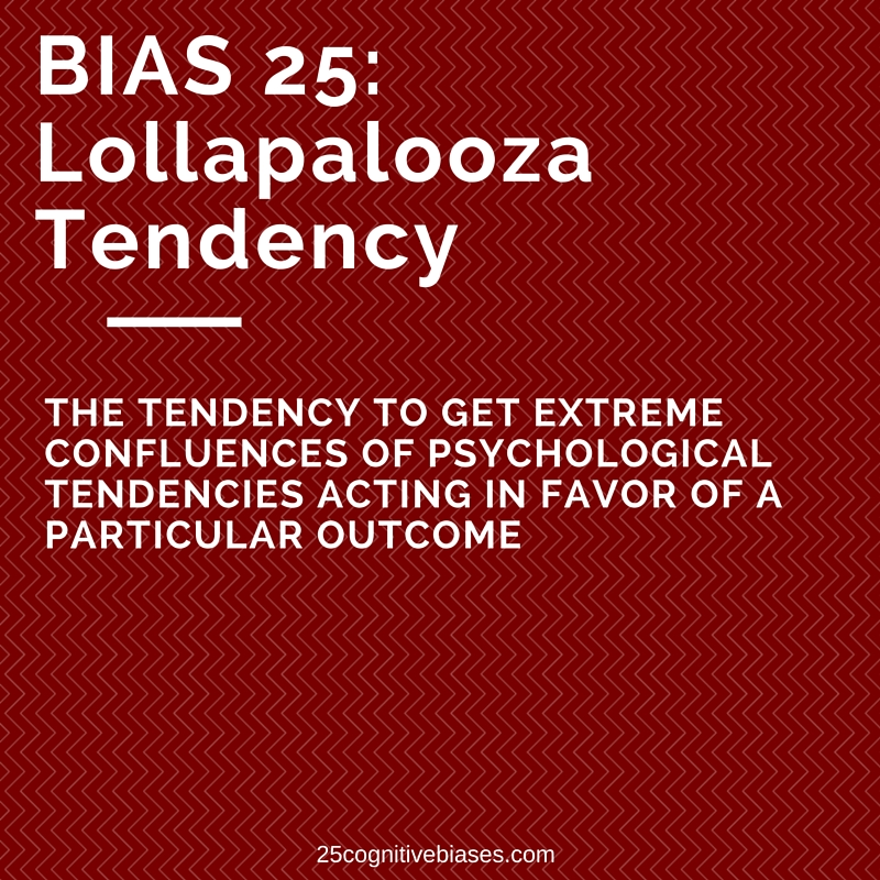 25 Cognitive Biases - Bias 25 Lollapalooza Tendency