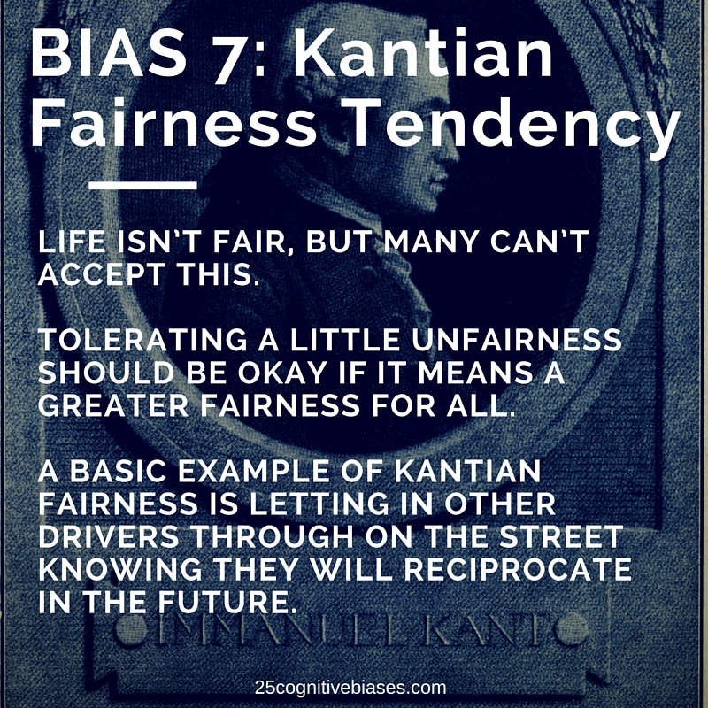 25 Cognitive Biases - Bias 7 Kantian Fairness Tendency