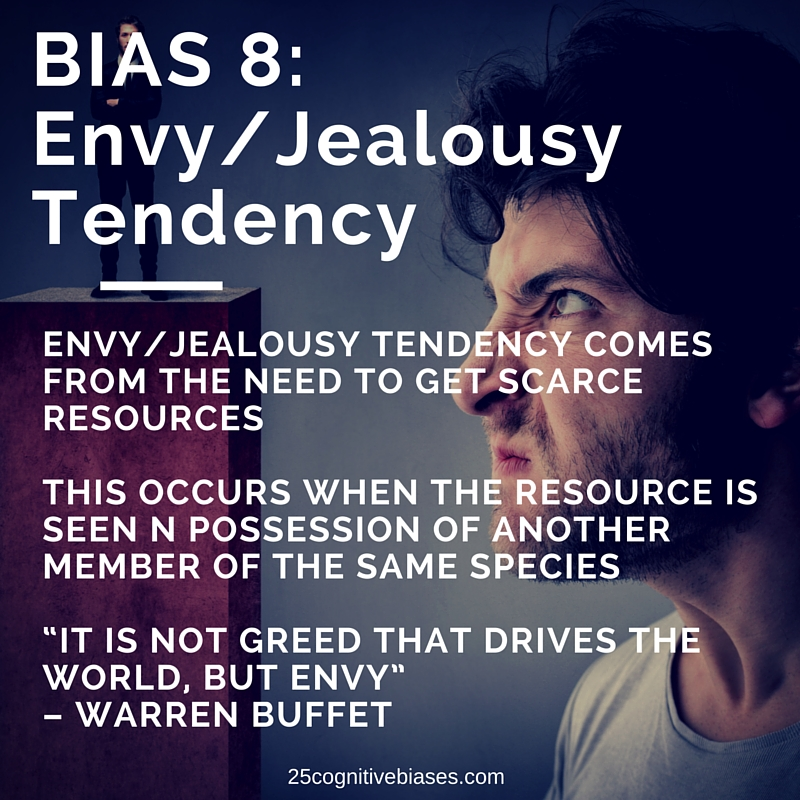 25 Cognitive Biases - Bias 8 Envy/Jealousy Tendency