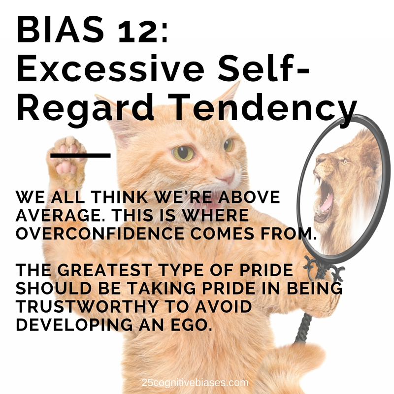25 Cognitive Biases - Bias 12 Excesive Self-Regard Tendency