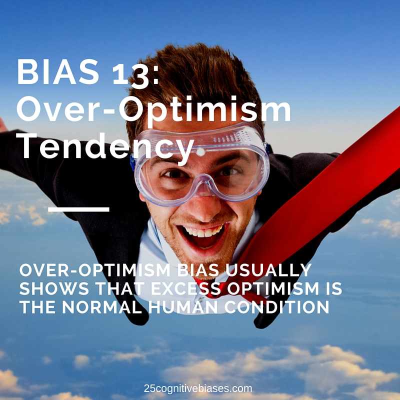 25 Cognitive Biases - Bias13 Over-Optimism Tendency - over-optimism bias meme